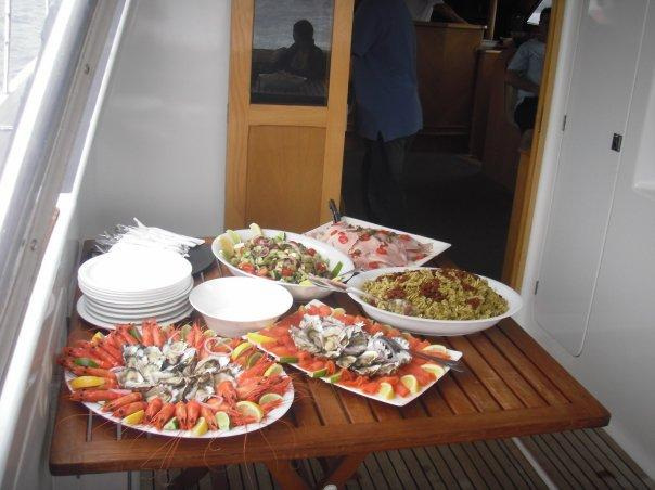 Ahhhh, Boxing Day on luxurious boat and not a soggy ham roll in sight - THIS IS MORE LIKE IT!