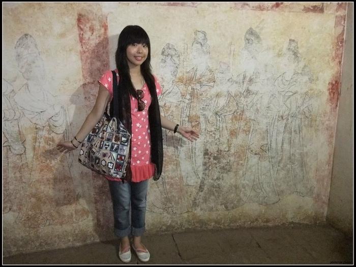 地宮走道上的壁畫