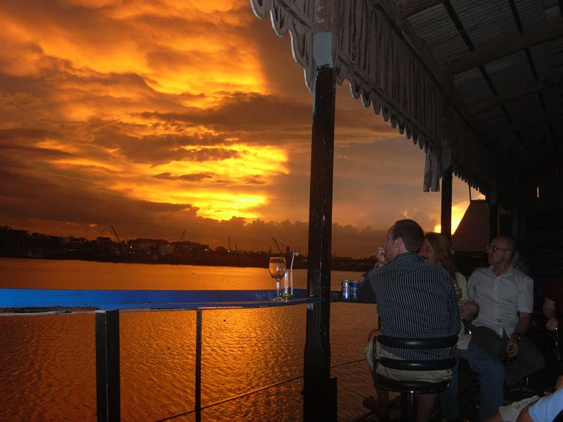 Sunset over Tonle Sap, phnom Penh