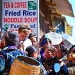 Hmong selling souvenirs to tourist