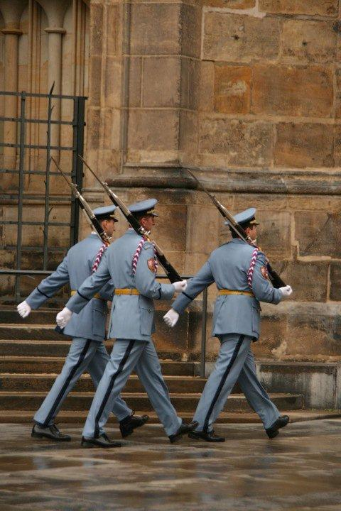 Guards doing their round.