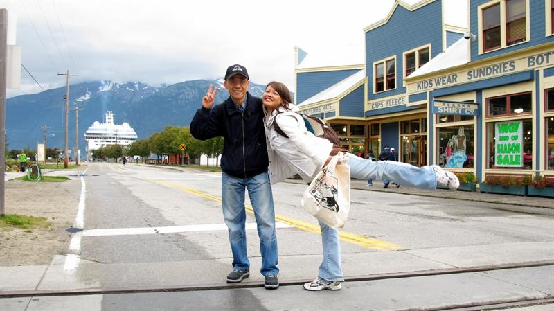 Skagway city ( 10 minutes walk to our ship)