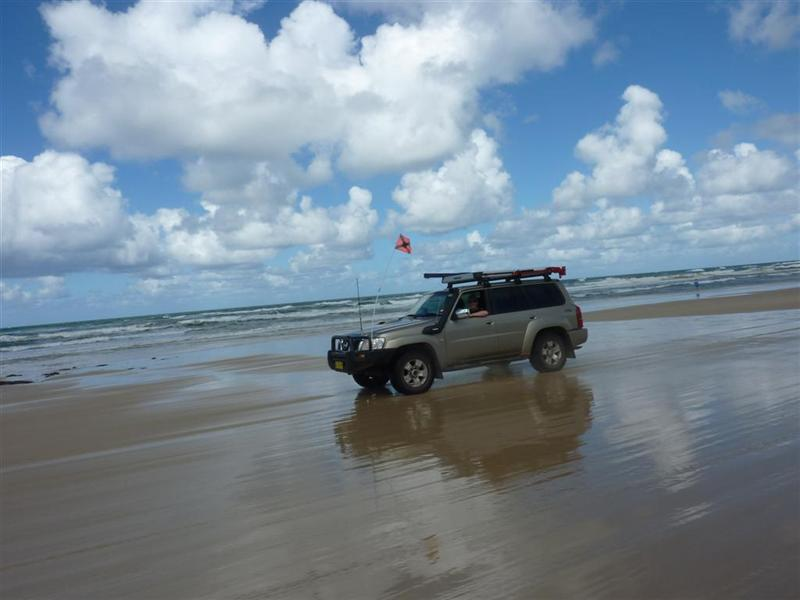 Bob cruzing on the Fraser Island Highway