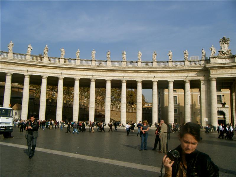 if you stand at this certain place, it makes all the columns of  st peters line up