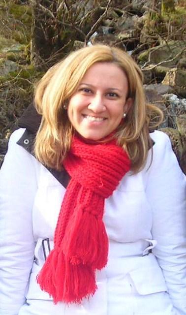 Ana at the falls at Ben Nevis