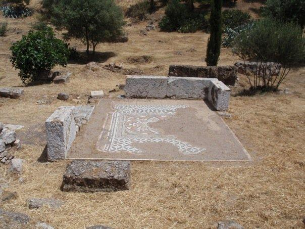 mosaic at the foot of the acropolis