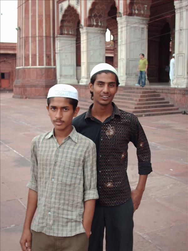 Muslim boys in Jama Masjid
