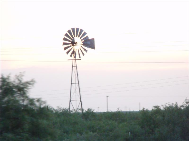 Wind mill at sunset