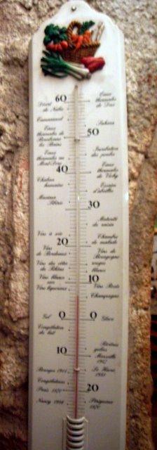 很可愛的溫度計   酒窖裡不到十度XD