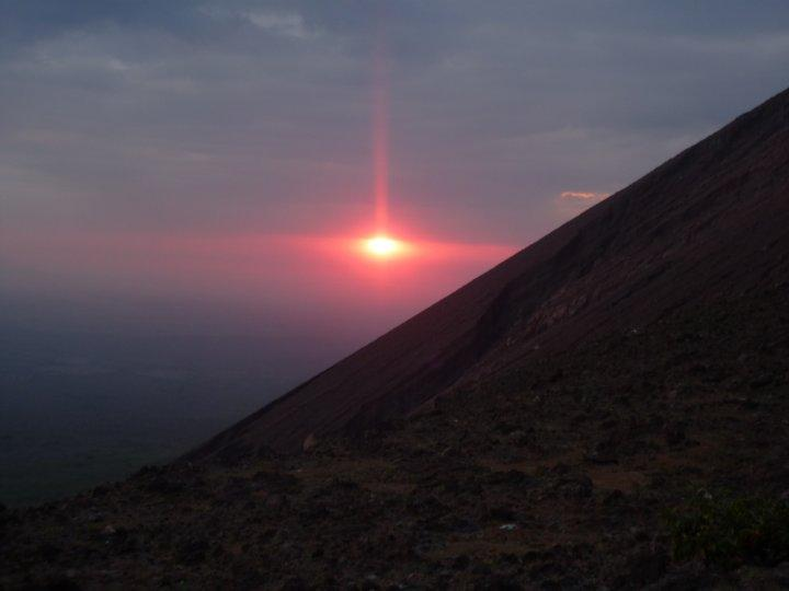 sunset from the side of the volcano