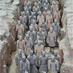 Terracotta army in formation