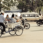 tourist trishaw around Hoan Kiem Lake, Hanoi