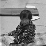 young tibetan at barkhor square