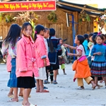 young children at school at village in Sapa