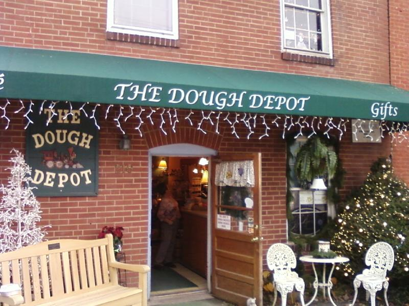 the Dough Depot is a restaruant and crafts shop
