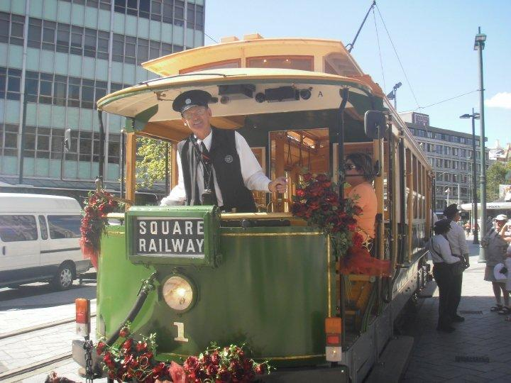 Christchurch trams - a far cry from the Dublin Luas!!