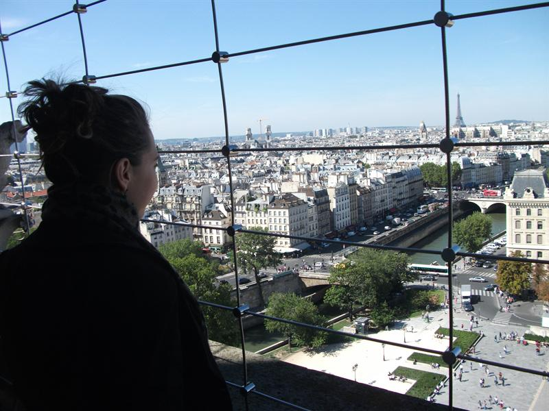 The view from Notre Dame.