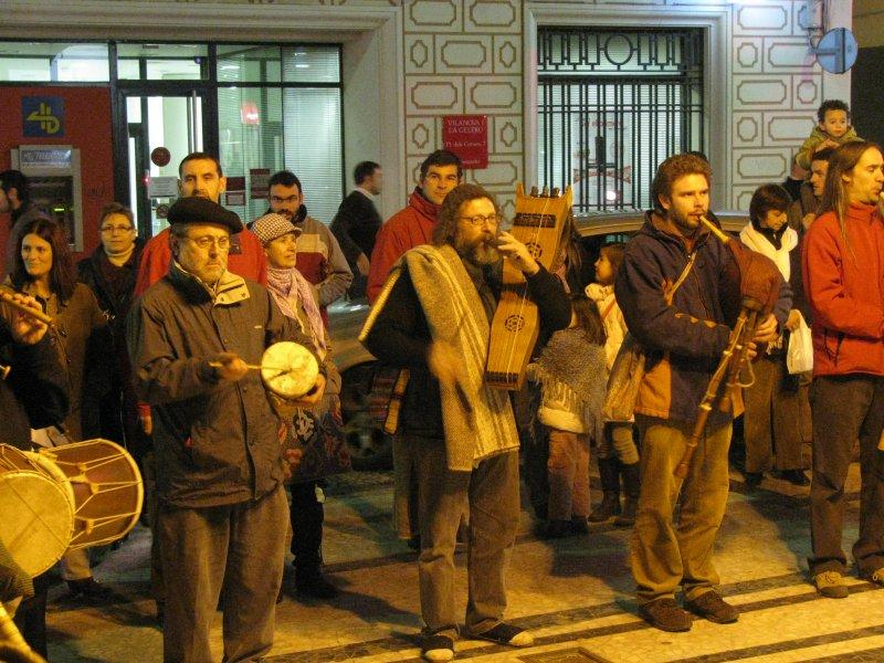 Christmas music in the streets at Vilanova
