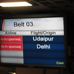 Belt Number 3 Udaipur flight