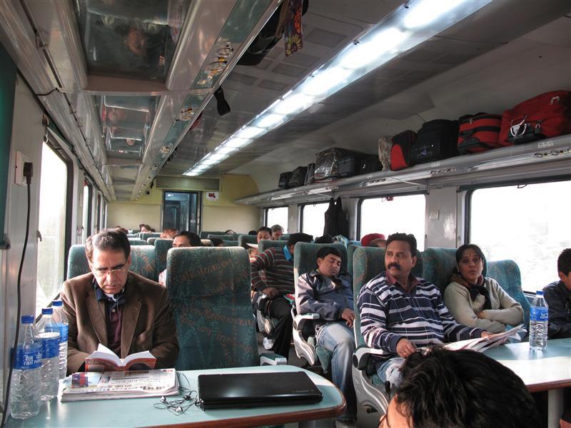On board Delhi - Agra train