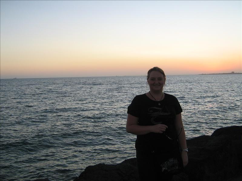 me and Pretty Sunset on St Kilda Beach