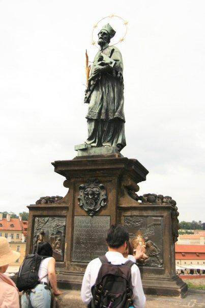 The statue of John of Nepomuk.