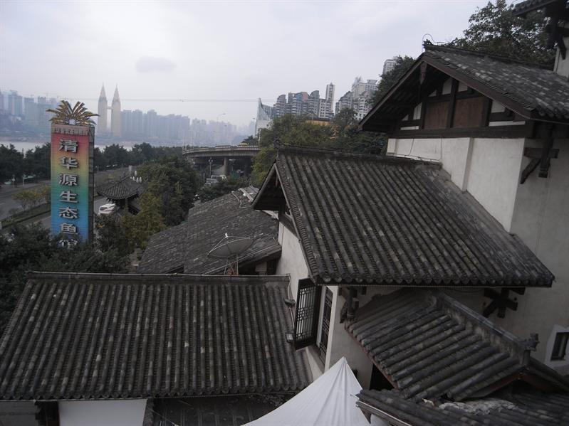 view from Yangtze River International Youth Hostel