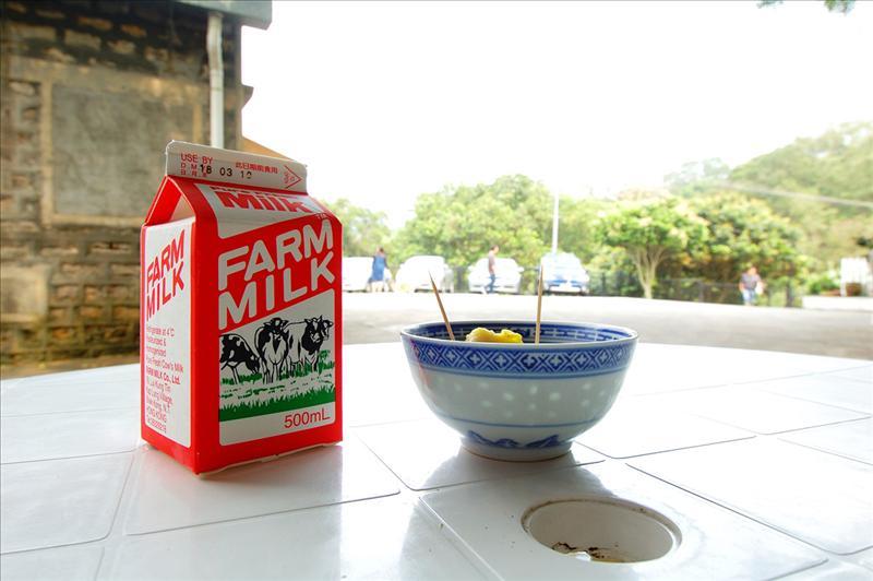 牛奶農場內品嚐鮮奶