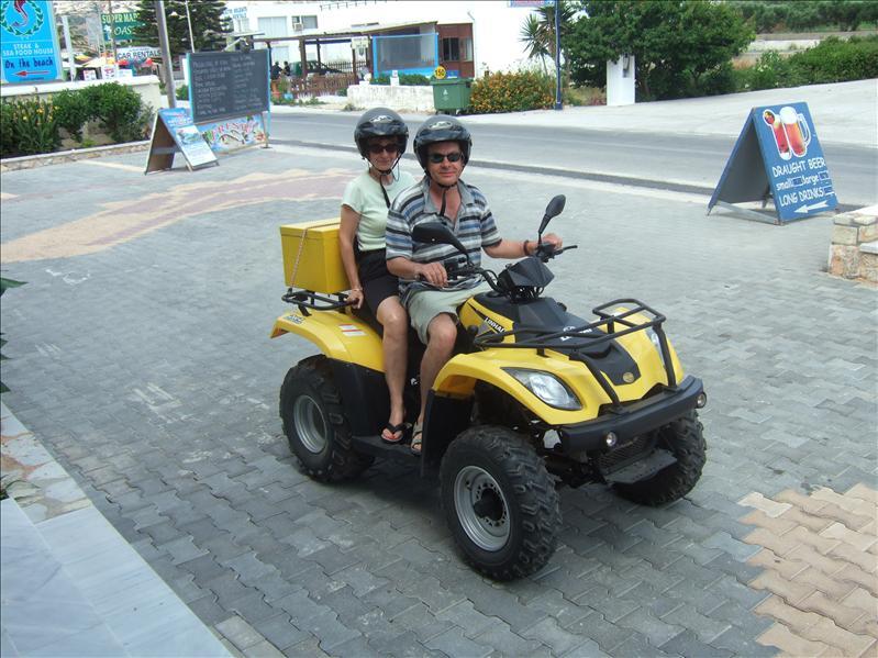 Graham and Linda Setting Off from Sacillis hotel