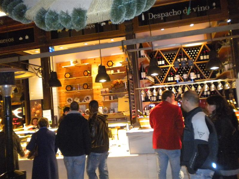 wine stand in the Marcado