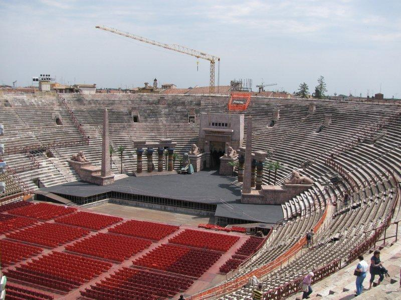.. the Arena prepared for Aida.