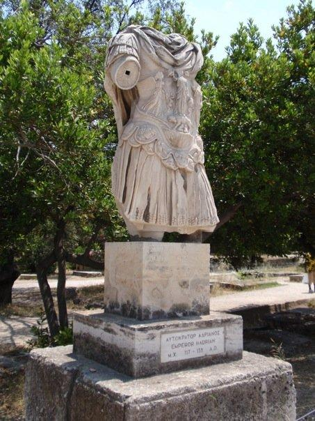 statue of hadrian, erected in the agora.