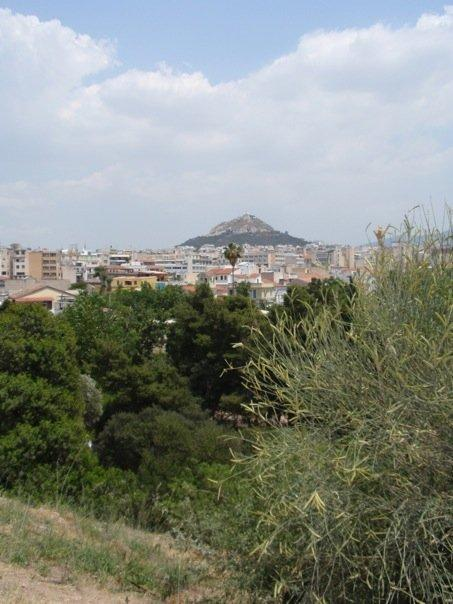 lycabettus hill as seen from the temple of hephaestus