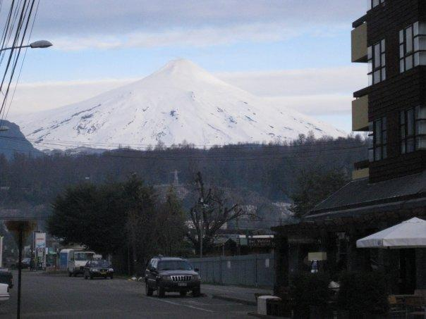 View of Villarrica Volcano from Pucon