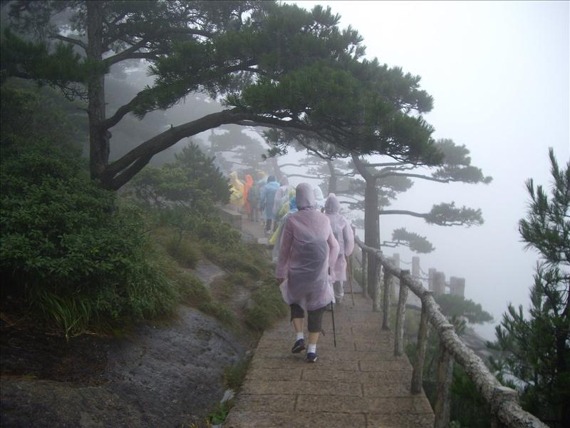 We stayed half day in Huang Shan due to windy rain.