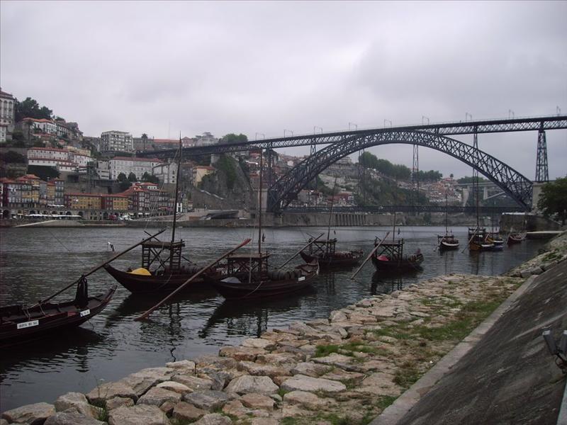 Puentes de Luis II desde Vila Nova de Gaia