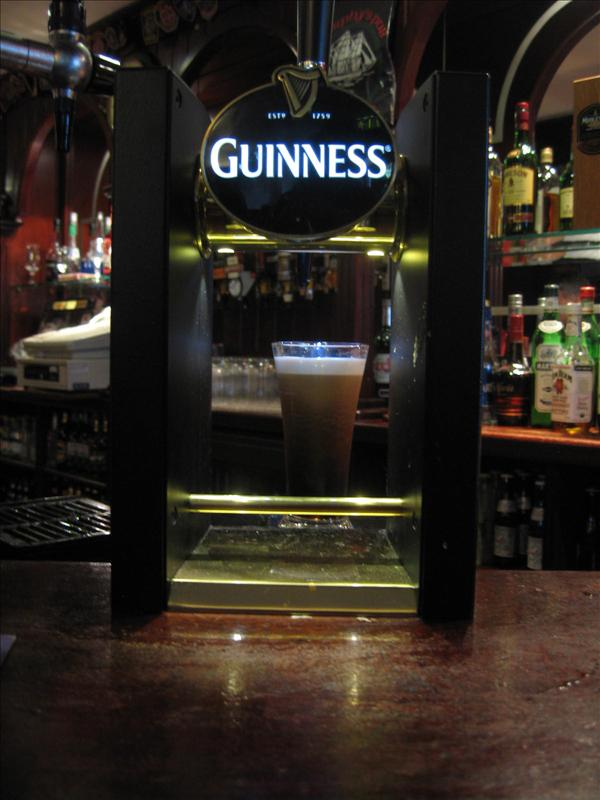 My Guinness..awaiting the finishing pour