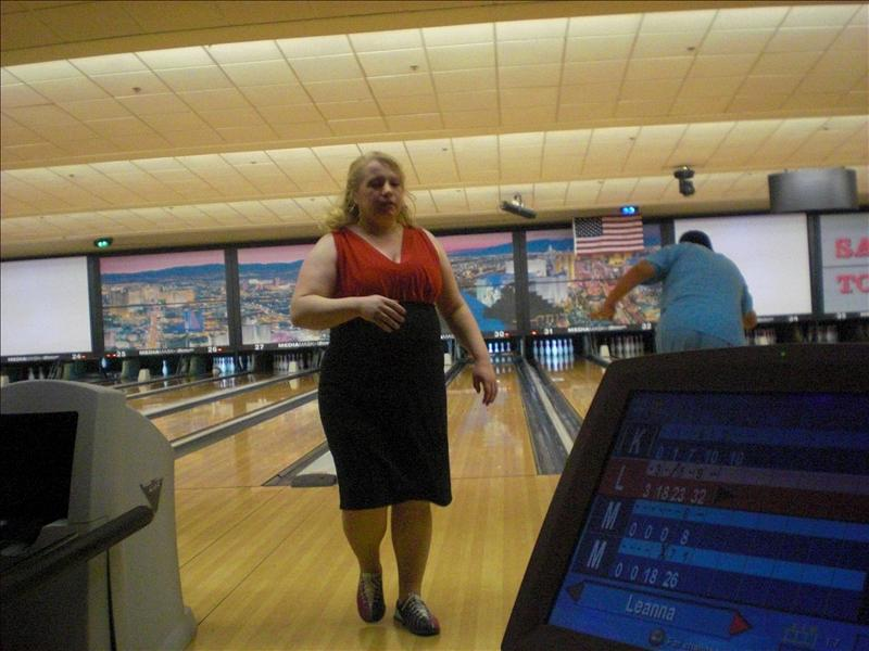 You kicked my ASS at bowling!