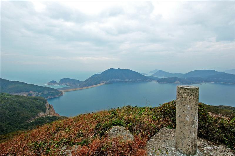 獨孤山山頂的標高柱