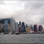 风雨将至时的维多利亚港