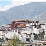 Potala palace view from Jokhang temple Rooftop