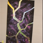 """ALIM3883.JPG One of two pieces for Lent first is cut apart and applied over """"earth and sky"""""""