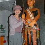 古茶部安199-樓梯間廁所旁的雕刻.JPG