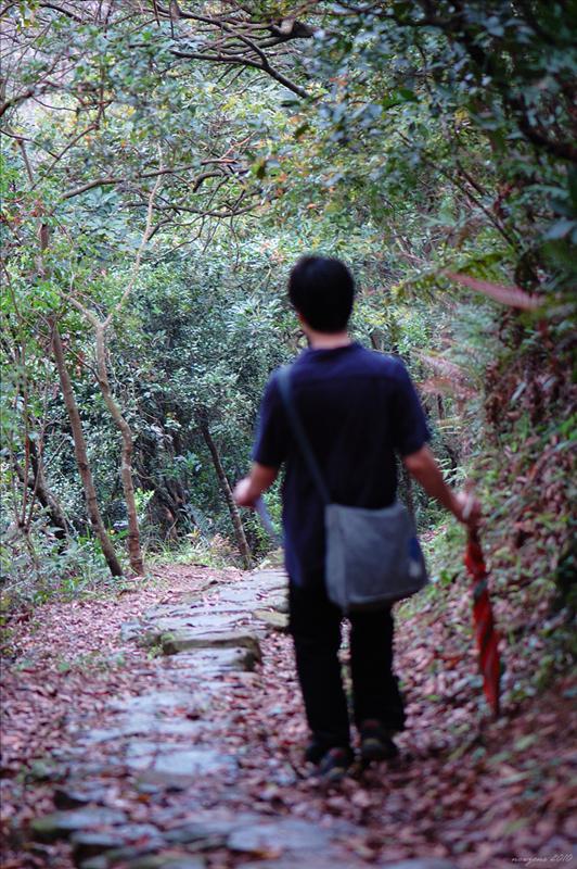 踏上石砌的甲龍古道 Kap Lung Ancient Trail