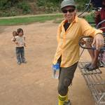 Fresh and ready to start a 2 day trek through the Luang Namtha  jungle of Laos, with my new socks, the only colour I could find on the market...hope the locals did not think this was some kind of western fashion!! :-)