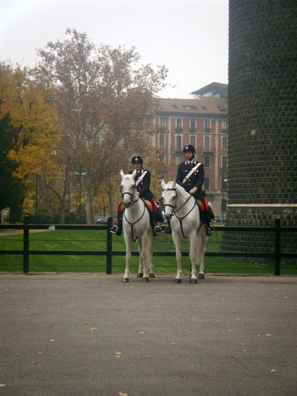 guards on horses by the castle!