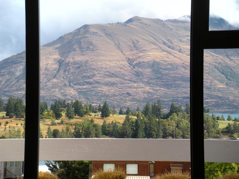 View from our hotel room at Queenstown