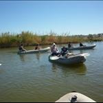 7 km kayaking in the Orange River (natural border between South Africa & Namibia)