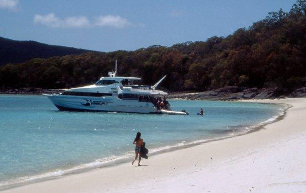 THE SQUEAKY CLEAN SAND OF THE WHITSUNDAYS, QL