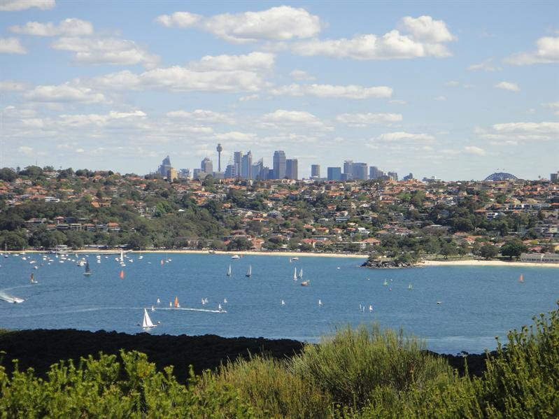 view of Sydney from Spit Bridge hike